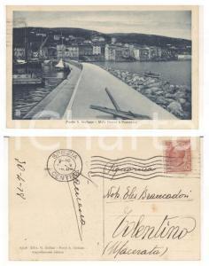 1928 PORTO SANTO STEFANO (GR) Molo Nuovo *Cartolina Francesco a Eles BRANCADORI