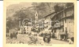 1915 ca NOASCA (TO) Capoluogo con Hotel ROYAL *Cartolina ANIMATISSIMA FP NV