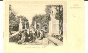 1900 ca SORRENTO (NA) Allée du Deserto - La prière *Cartolina ANIMATA FP VG