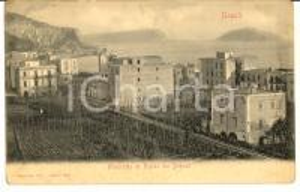 1908 NAPOLI Panorama di NISIDA dai BAGNOLI *Cartolina postale FP VG