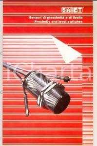 1989 CASTEL MAGGIORE Ditta SAIET Sensori di prossimità e di livello *Catalogo