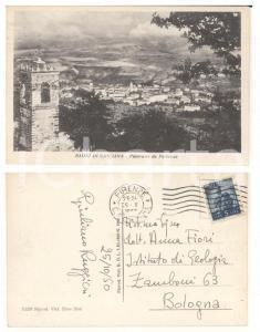 1950 CASCIANA TERME Panorama da Parlascio *Cartolina autografa Giuliano RUGGIERI