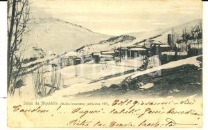 1908 NIQUIDETTO / VIU' (TO) Paesaggio invernale *Cartolina don Pietro CERVO FP