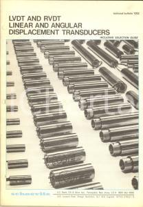 1977 PENNSAUKEN (USA) SCHAEVITZ Linear displacement transducers *Bulletin