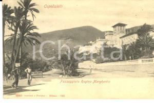 1900 ca OSPEDALETTI (IM) Passeggiata Regina Margherita *Cartolina ANIMATA FP NV