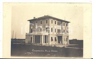1910 CODROIPO (UD) Veduta di VILLA DORA *Cartolina postale FP VG