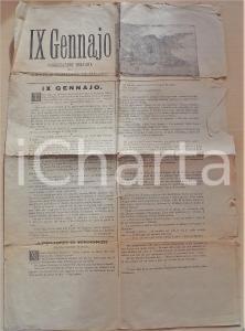1890 ca IX GENNAJO Rivista del Circolo Popolare di Milano - Vittorio Emanuele II