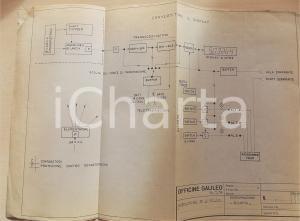 1974 OFFICINE GALILEO FIRENZE Schema per indicatore di livello 42x30 cm