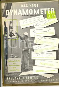 1957 LUNEBURG Friedrich LEUTERT Das neue dynamometer *Catalogo ILLUSTRATO