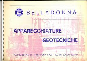 1970 ca ROMA Ditta BELLADONNA Apparecchiature geotecniche *Catalogo ILLUSTRATO