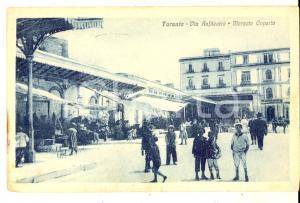 1919 TARANTO Via Anfiteatro - Mercato Coperto *Cartolina ANIMATA bambini FP