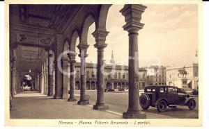 1941 NOVARA Piazza VITTORIO EMANUELE con auto *Cartolina a contessa Sofia FERRI