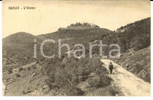 1910 ca BUSCA (CN) Veduta dell'eremo *Cartolina ANIMATA a Maria AVEROLDI FP VG