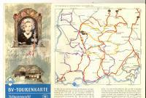 1970 ca FORESTA NERA / SCHWARZWALD (D) Pieghevole pubblicitario *Tourenkarte