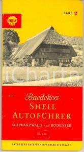 1962 BAEDEKERS SHELL Autofuhrer - SCHWARZWALD und BODENSEE 128 pp. *VINTAGE
