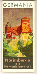 1940 ca GERMANIA - NORIMBERGA e la FRANCONIA Bavarese *Pieghevole ILLUSTRATO