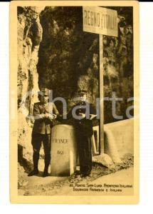 1915 ca VENTIMIGLIA Frontiera italiana Ponte SAN LUIGI - Doganieri *Cartolina