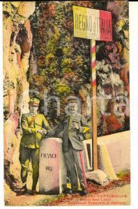 1915 ca VENTIMIGLIA Frontiera Ponte SAN LUIGI - Doganieri per mano *Cartolina