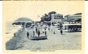 1915 ca ALBENGA (SV) Stabilimento balneare *Cartolina non stampata al verso