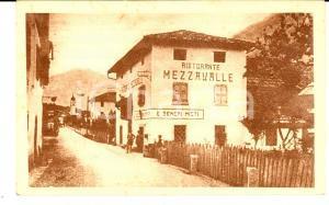 1915 ca BORZAGO RENDENA (TN) Ristorante MEZZAVALLE *Cartolina ANIMATA FP