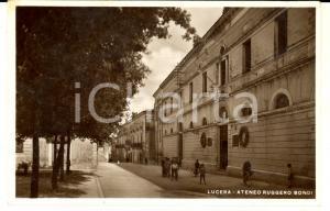 1952 LUCERA (FG) Ateneo RUGGERO BONDI *Cartolina postale ANIMATA FP VG