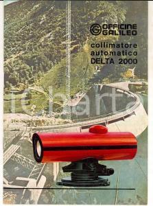 1975 OFFICINE GALILEO Catalogo DELTA 2000 Automatic collimator 12 pp.