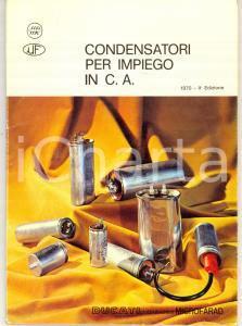 1970 BOLOGNA DUCATI Elettrotecnica MICROFARAD Condensatori per impiego in C. A.