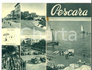 1950 PESCARA Vedute città e circuito automobilistico *Pieghevole ILLUSTRATO