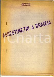 1970 ca OFFICINE GALILEO FIRENZE Assestimetri a braccia *Fascicolo con TAVOLE