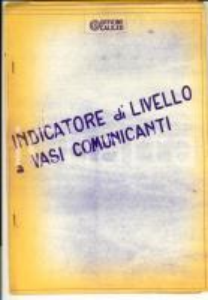1970 ca OFFICINE GALILEO Indicatore di livello a vasi comunicanti *CON TAVOLE