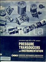 1980 ca HEMPSTEAD (NY) CIC Pressure transducers and instrumentation 32 pp.