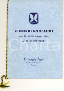 1956 SITMAR LINE S/S CASTEL FELICE Passenger list NORDLANDFAHRT Deutsch