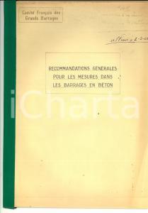 1968 COMITE' FRANCAIS GRANDS BARRAGES Mesures dans les barrages en béton 22 pp.