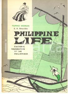 1960 ca PHILIPPINE LIFE E. R. BENAVIDES The Filipino woman 18 pp.
