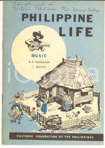 1960 ca PHILIPPINE LIFE R. K. MANGAHAS - J. MACEDA Music 18 pp.