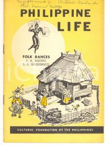 1960 PHILIPPINE LIFE AQUINO - GOQUINGCO Folk dances 18 pp. *Cultural Foundation