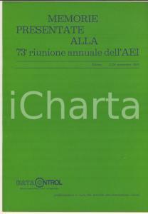 1972 TORINO DATA CONTROL A. BIANCHI - E. TORRICELLI Sistema di teleoperazioni
