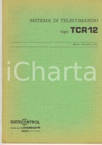 1973 MILANO DATA CONTROL Sistema di telecomando tipo TCR 12 *ILLUSTRATO