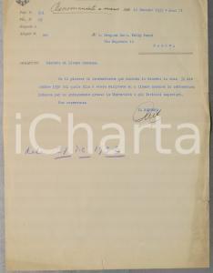 1933 UNIVERSITA' DI PADOVA Carlo ANTI su abilitazione alla docenza *AUTOGRAFO