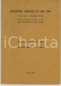 1961 INTERNATIONAL COMMISSION FOR LARGE DAMS General criteria for measurements