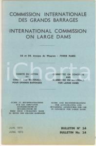 1973 INTERNATIONAL COMMISSION LARGE DAMS Accelerating and retarding admixtures