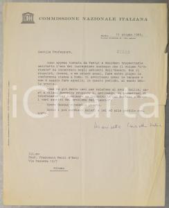 1966 ROMA UNESCO Marisetta PARONETTO VALIER lieta per il successo di un libro