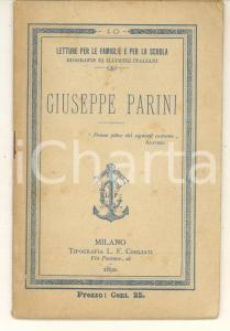 1892 MILANO Giuseppe PARINI *Biografie di illustri italiani ed. COGLIATI