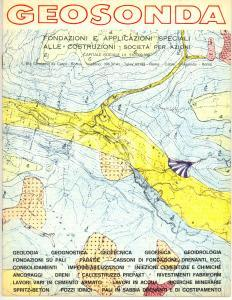 1970 ca ROMA Ditta GEOSONDA Fondazioni e applicazioni alle costruzioni *Catalogo