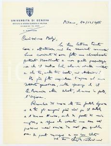 1966 MILANO Luigi PROSDOCIMI acquista libro per Università di Genova *Autografo