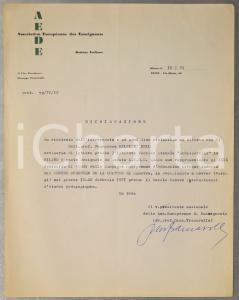 1971 MILANO AEDE Nomina Francesco MELZI D'ERIL *Autografo Giuseppe TRAMAROLLO