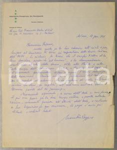 1971 MILANO AEDE Lettera Maria Pia ROGGERO a Francesco MELZI D'ERIL *Autografo