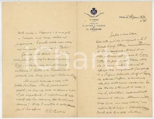 1934 FIRENZE Paolo Emilio PAVOLINI desidera intervenire a convegno di slavisti