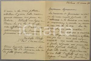 1935 MILANO Isabella MELZI D'ERIL PARAVICINI alla futura nuora *AUTOGRAFO