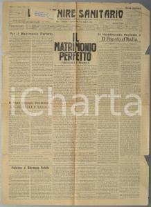 1931 L'AVVENIRE SANITARIO Il matrimonio perfetto - Etica fascista *Rivista